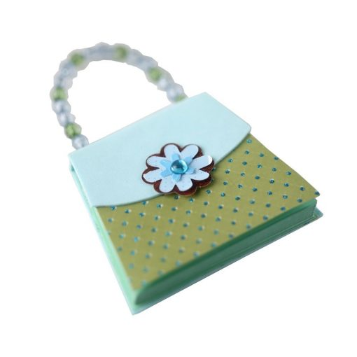 Carnetel poseta albastru si verde, TG by AleXer, 8190024, Carton, Hartie, Multicolor