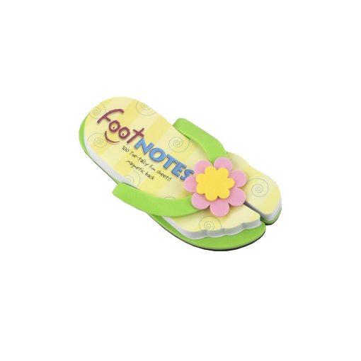Carnetel papuc de plaja Verde cu floare, TG by AleXer, 8190054, Carton, Hartie, Multicolor