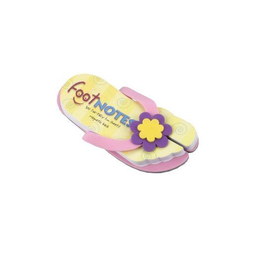Carnetel papuc de plaja Roz cu floare, TG by AleXer, 8190052, Carton, Hartie, Multicolor