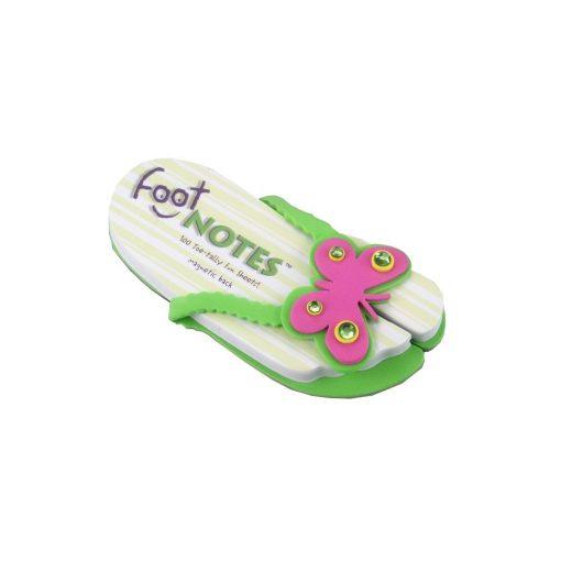 Carnetel papuc de plaja Fluturas verde, TG by AleXer, 8190051, Carton, Hartie, Multicolor