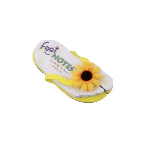 Carnetel papuc de plaja Galben cu Floarea soarelui, TG by AleXer, 8190047, Carton, Hartie, Multicolor