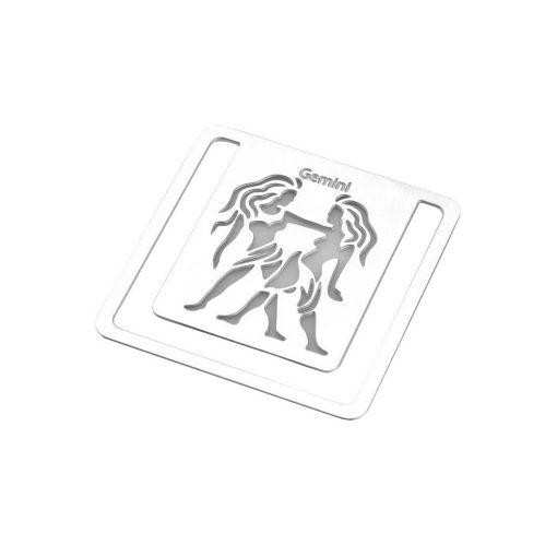 Semn de carte zodia Gemeni, TG by AleXer, 8190078, Metal, Argintiu