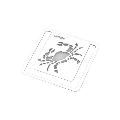 Semn de carte zodia Rac, TG by AleXer, 8190020, Metal, Argintiu