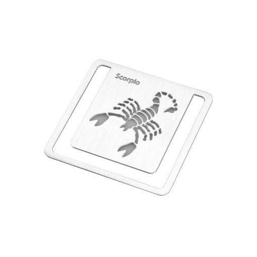 Semn de carte zodia Scorpion, TG by AleXer, 8190075, Metal, Argintiu