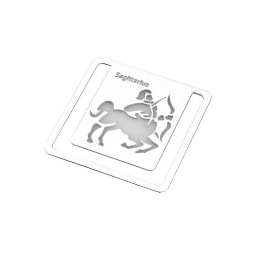 Semn de carte zodia Sagetator, TG by AleXer, 8190074, Metal, Argintiu