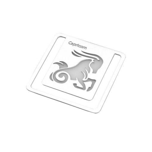Semn de carte zodia Capricorn, TG by AleXer, 8190073, Metal, Argintiu