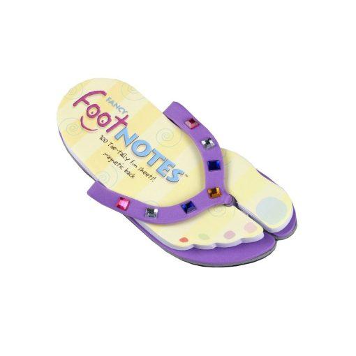 Carnetel papuc de plaja Mov cu bijuterii colorate, TG by AleXer, 8190049, Carton, Hartie, Multicolor