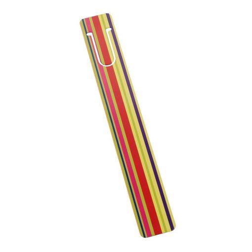 Semn de carte metalic Dungi Colorate, TG by AleXer, 8190064, Metal, Multicolor