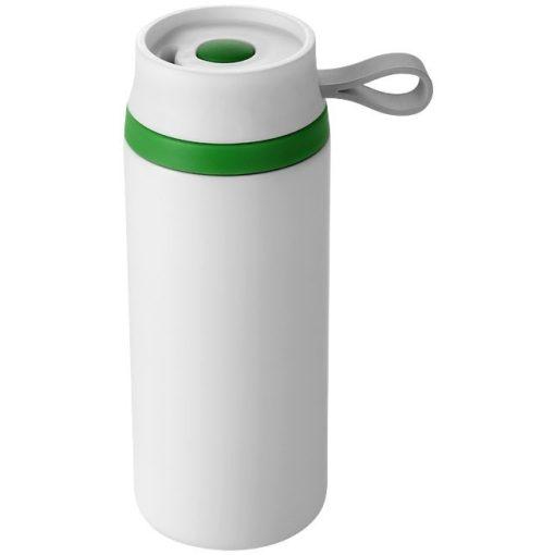Cana termos cu perete dublu, alb-verde, 350 ml