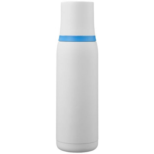 Termos cu perete dublu otel inoxidabil, alb-albastru, 500 ml