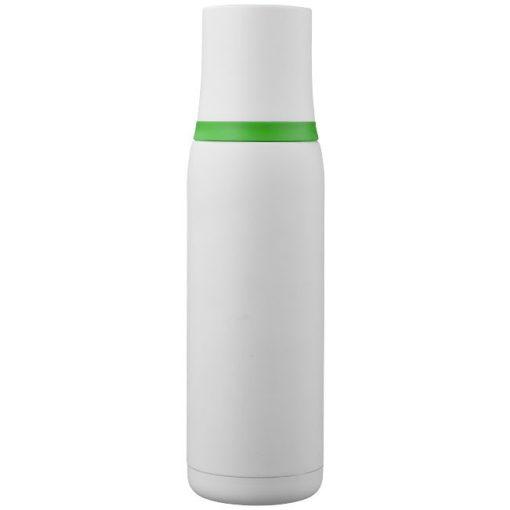 Termos cu perete dublu otel inoxidabil, alb-verde, 500 ml
