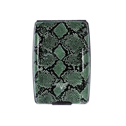 Portofel din aluminiu Oyster de la Tru Virtu - Green Python Special Edition