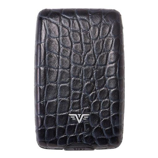 Portofel piele Croco Black Tru Virtu Cash & Cards - Leather Line
