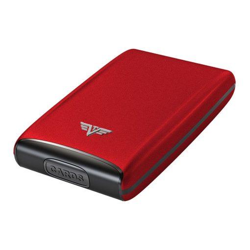 Portcard aluminiu mat rosu Tru Virtu Credit Card Case - Silk Line