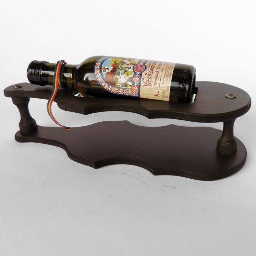 Suport din lemn chitara mica cu sticluta de vin CDT-43-OSH