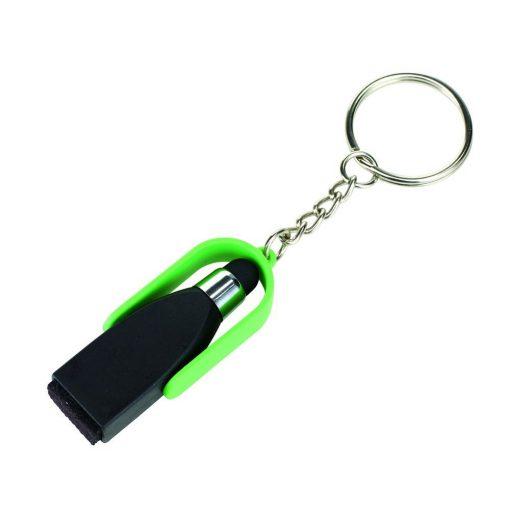 Breloc smart clean cu varf touchscreen negru-verde