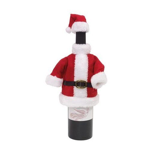 Costum Mos Craciun pentru sticla de vin God Jul