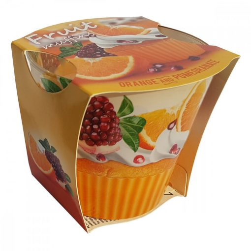 Lumanare Fruit Muffins Orange & Pomegranate, 115 gr