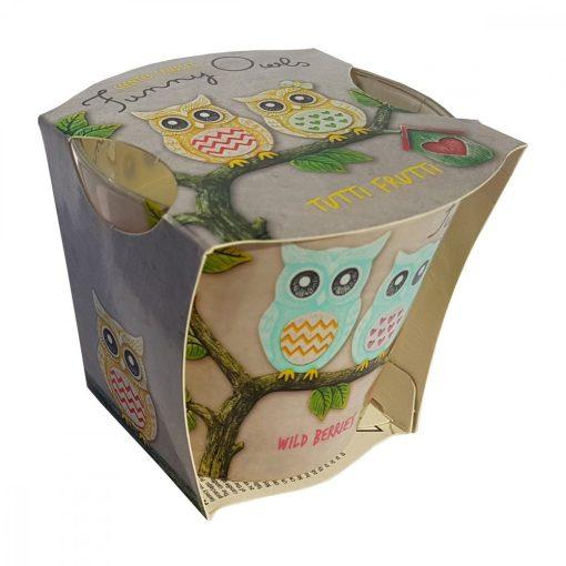 Lumanare Funny Owls Tutti Frutti, 115 gr