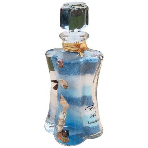 Sare de baie decorativa albastra 17 cm