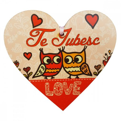 Tablita Love, din lemn