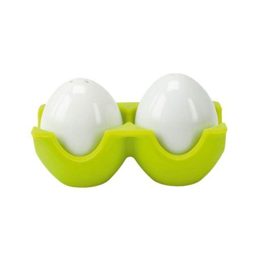 Set pentru sare si piper in forma de ou Twin - verde