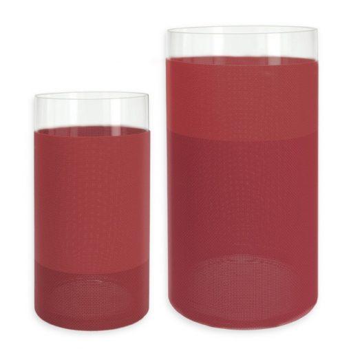 Suport lumanari si vaza decorativa rosu - 655213