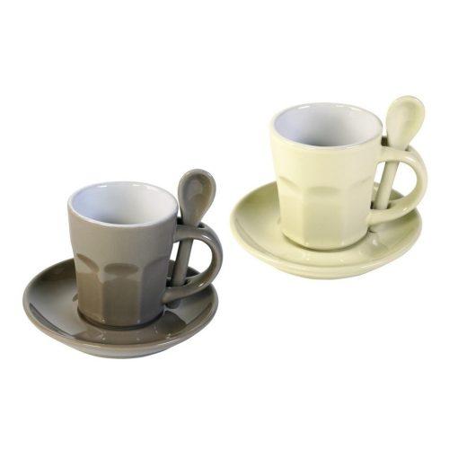 Set 2 cani pentru cafea - Intermezzo - crem/maro