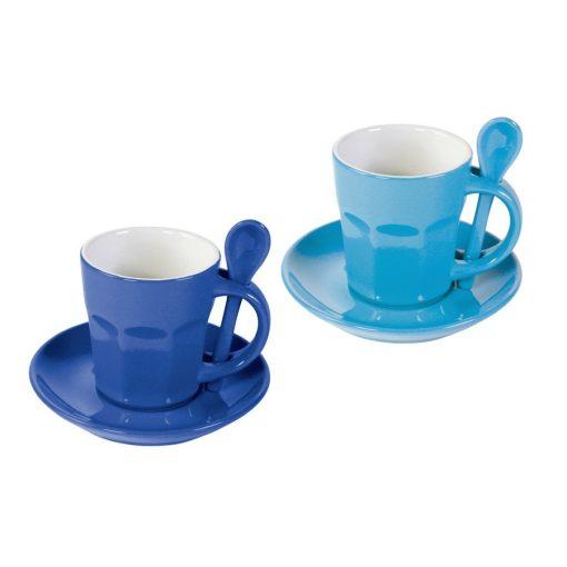 Set 2 cani pentru cafea - Intermezzo - albastru/albastru inchis
