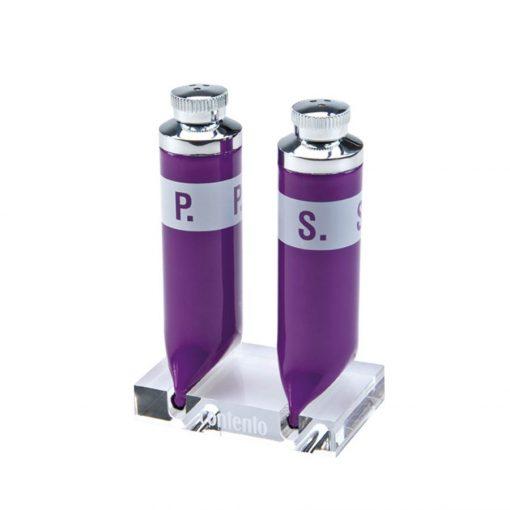 Set pentru piper si sare - violet