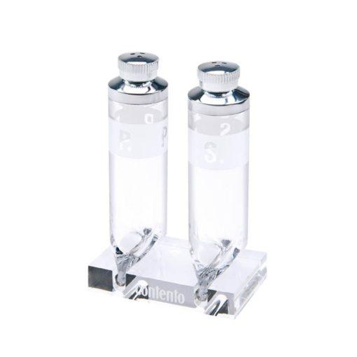 Set pentru piper si sare - transparent