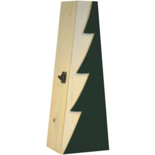 Cutie lemn triunghiulara pentru o sticla de vin CDT-742A