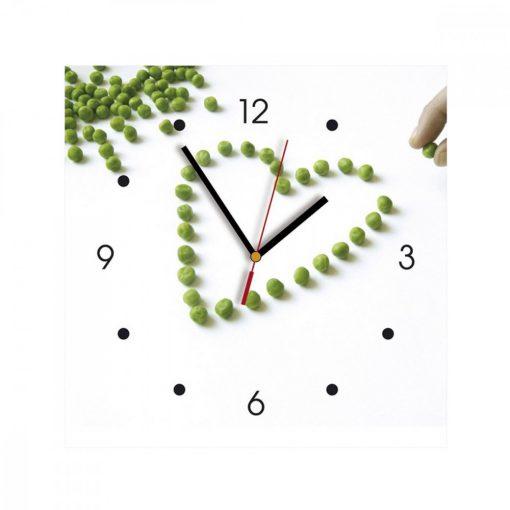 Ceas de perete din MDF - boabe de mazare - My Clock