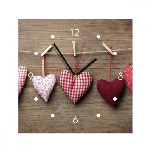 Ceas de perete din MDF - inimioare - My Clock