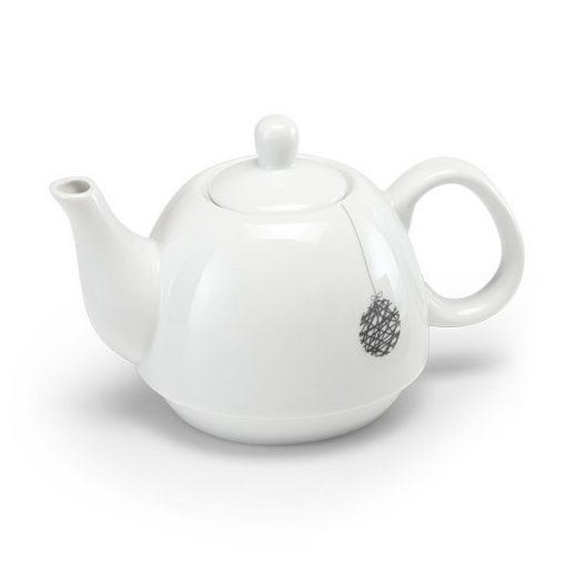 Ceainic ceramic cu design de Craciun