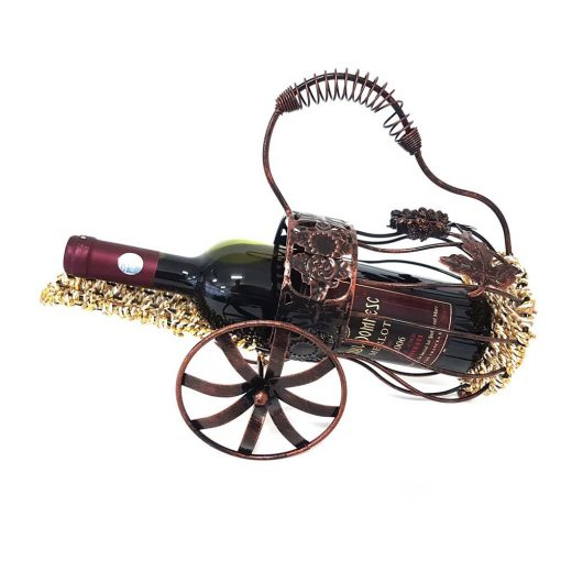 Suport vin din fier forjat aramiu antichizat tun 36 cm