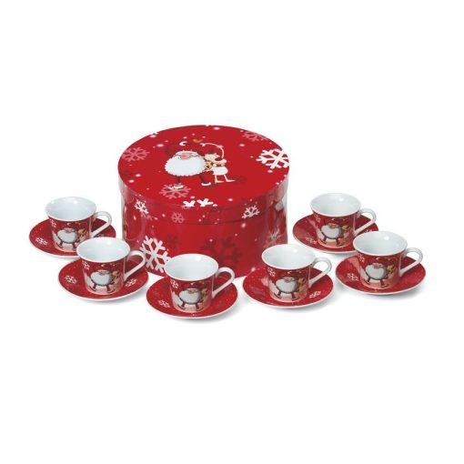 Cani espresso set 12 bucati - rosu