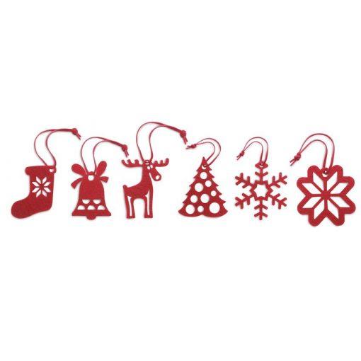 Ornamente pentru bradul de Craciun - Set 6 bucati