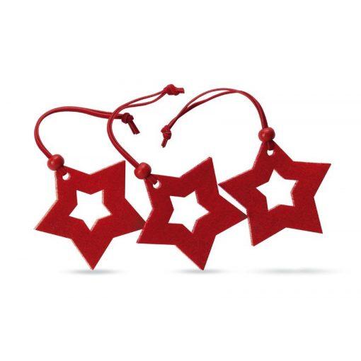 Ornamente Craciun in  forma de stea - set 3 bucati