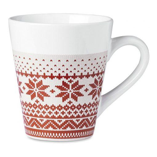 Cana ceramica cu model nordic