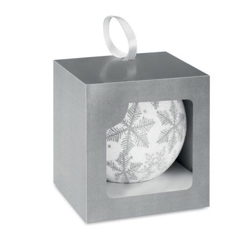 Glob de Craciun cu finisare perlata argintiu