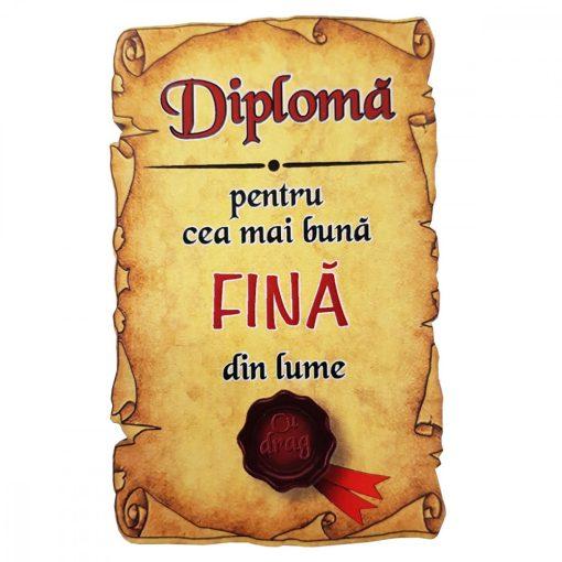 Magnet Diploma pentru cea mai buna FINA din lume, lemn