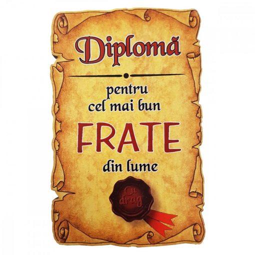 Magnet Diploma pentru cel mai bun FRATE din lume, lemn