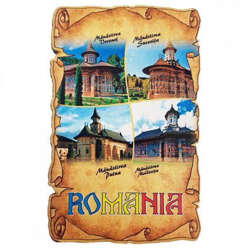 Magnet Manastiri din Romania, lemn