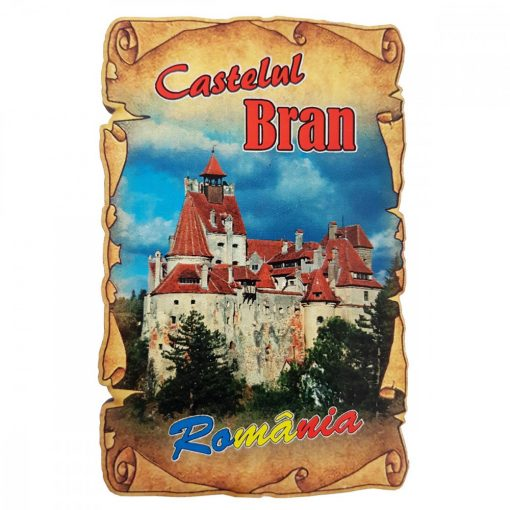 Magnet Castelul Bran, lemn