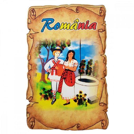 Magnet Souvenir Romania, lemn