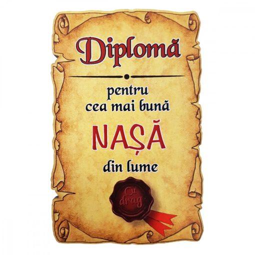Magnet Diploma pentru cea mai buna NASA din lume, lemn