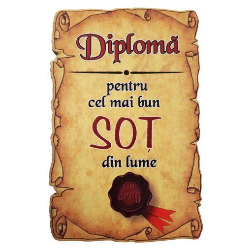 Magnet Diploma pentru Cel mai bun SOT din lume, lemn