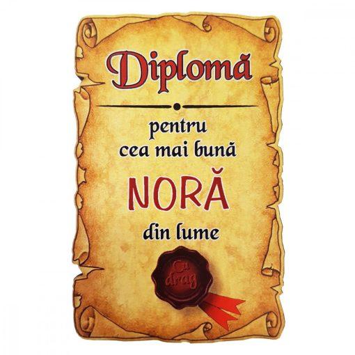Magnet Diploma pentru Cea mai buna NORA din lume, lemn