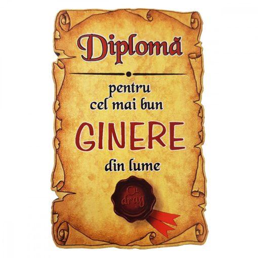 Magnet Diploma pentru Cel mai bun GINERE din lume, lemn